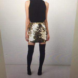 Trina Turk metallic sequenced skirt